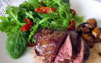 Kangaroo meat steak